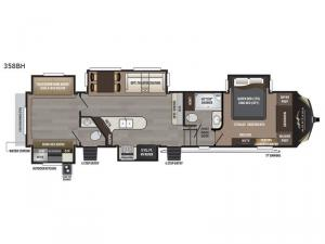 Montana High Country 358BH Floorplan Image