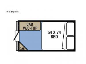 Clipper Camping Trailers 9.0 Express Floorplan Image