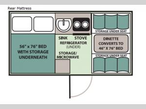 Classic Rear Mattress Floorplan Image