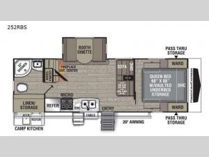 Freedom Express Ultra Lite 252RBS Floorplan Image