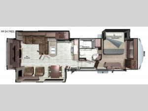 Mesa Ridge MF347RES Floorplan Image