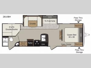 Passport 2810BH Grand Touring Floorplan Image