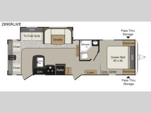 Passport 2890RLWE Grand Touring Floorplan Image