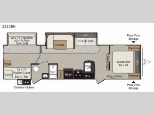 Passport 3220BH Grand Touring Floorplan Image