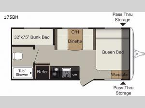 Passport 175BH Express Floorplan Image