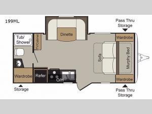 Passport 199ML Express Floorplan Image