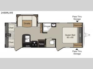 Passport 2450RLWE Grand Touring Floorplan Image