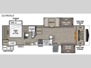 Freedom Express Liberty Edition 321FEDSLE Floorplan Image