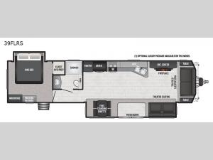 Retreat 391FLRS Floorplan Image