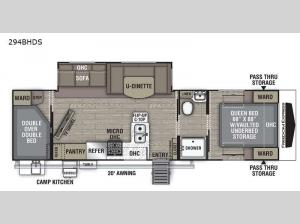 Freedom Express Ultra Lite 294BHDS Floorplan Image
