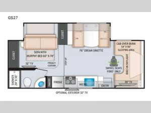 Quantum GS27 Chevy Floorplan Image