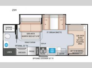 Four Winds 25M Chevy Floorplan Image