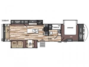 Salem Hemisphere GLX 338BAR Floorplan Image