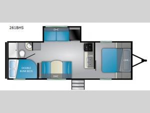 Trail Runner 261 BHS Floorplan Image