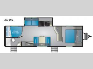 Trail Runner 293 BHS Floorplan Image