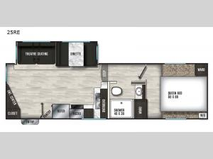 Chaparral Lite 25RE Floorplan Image