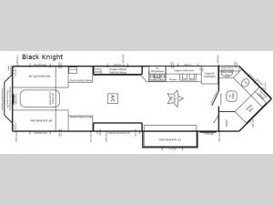 Rugged RV Black Knight Floorplan Image