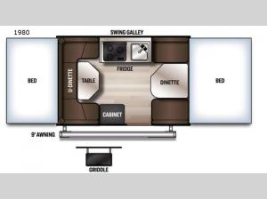 Rockwood Freedom Series 1980 Floorplan Image