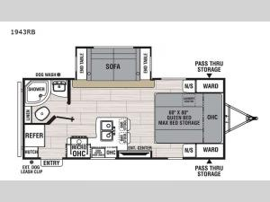 Northern Spirit Ultra Lite 1943RB Floorplan Image