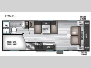 Salem Cruise Lite 220BHXL Floorplan Image