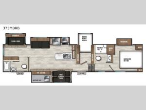 Chaparral 373MBRB Floorplan Image