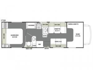 Freelander 27QB Ford 350 Floorplan Image