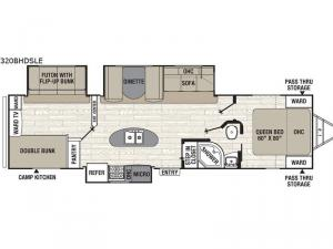 Freedom Express Maple Leaf Edition 320BHDSLE Floorplan Image