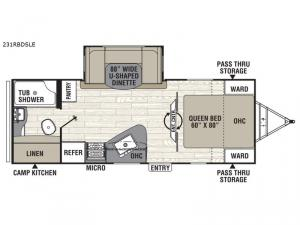 Freedom Express Maple Leaf Edition 231RBDSLE Floorplan Image