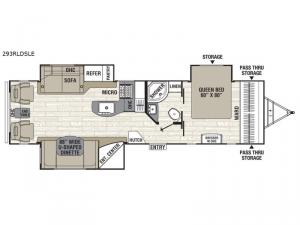 Freedom Express Maple Leaf Edition 293RLDSLE Floorplan Image