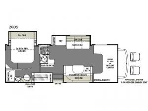 Freelander 26DS Chevy 4500 Floorplan Image