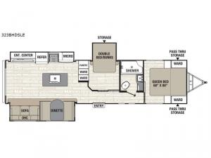 Freedom Express Maple Leaf Edition 323BHDSLE Floorplan Image