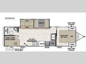 Patriot Edition 287BHDS Floorplan Image