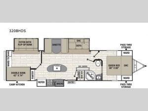 Patriot Edition 320BHDS Floorplan Image