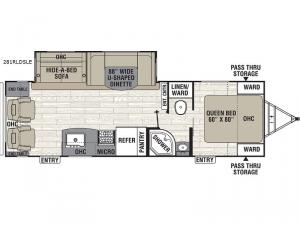 Patriot Edition 281RLDSLE Floorplan Image