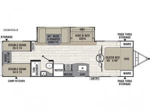 Patriot Edition 292BHDSLE Floorplan Image