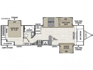 Patriot Edition 321FEDSLE Floorplan Image