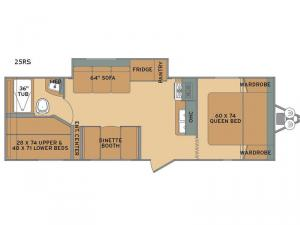 Oasis 25RS Floorplan Image