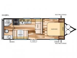 Salem Cruise Lite 241QBXL Floorplan Image