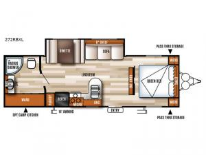 Salem Cruise Lite 272RBXL Floorplan Image