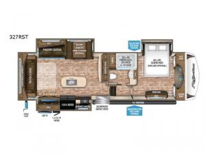 Reflection 327RST Floorplan Image