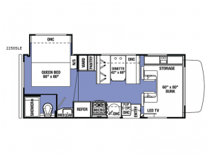Sunseeker LE 2250SLE Ford Floorplan Image