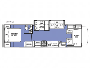 Sunseeker LE 2850SLE Ford Floorplan Image
