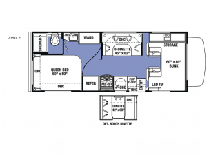 Sunseeker LE 2350LE Chevy Floorplan Image