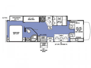 Sunseeker 3270S Ford Floorplan Image