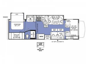 Sunseeker 3040S Ford Floorplan Image