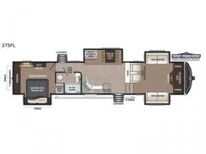 Montana High Country 375FL Floorplan Image