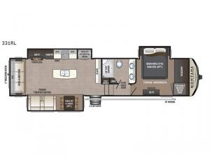 Montana High Country 331RL Floorplan Image
