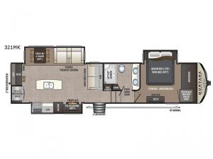 Montana High Country 321MK Floorplan Image