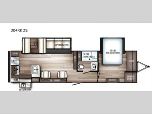 SolAire Ultra Lite 304RKDS Floorplan Image