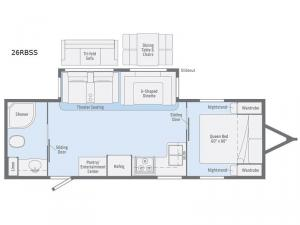 Minnie Plus 26RBSS Floorplan Image